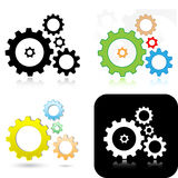 Gears icons Royalty Free Stock Photos
