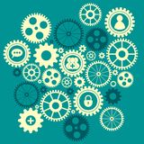 Gears with icons inside Royalty Free Stock Photo