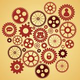 Gears with icons inside Royalty Free Stock Image