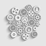 Gears with icons inside Royalty Free Stock Images