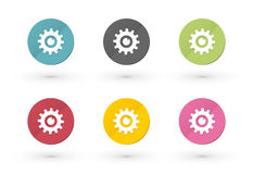 Gears icons Royalty Free Stock Images
