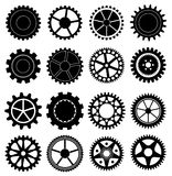 Gears icons set Stock Photos