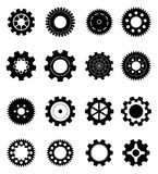 Gears Icons. Set of different gear icons in black Stock Photography