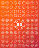 Gears Icons Set Royalty Free Stock Image
