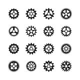 Gears icons. Vector clock gear set and transmission cogwheels isolated  Royalty Free Stock Photo