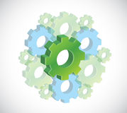 Gears illustration design Royalty Free Stock Photos
