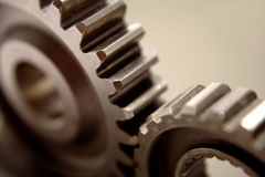 Gears In Action Royalty Free Stock Images
