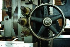 Gears of  industrial age machine Royalty Free Stock Images