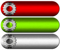 Gears Industrial Banners Stock Photos