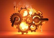 Gears of Industry. Conceptual image vector illustration