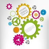 Gears infographic design. Color gears ibusiness nfographic design, vector illustration Royalty Free Stock Photo