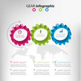 Gears infographic design. Color gears ibusiness nfographic design, vector illustration Stock Image