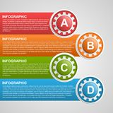 Gears infographic design template. Royalty Free Stock Photography