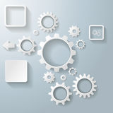 Gears on infographic Stock Photography