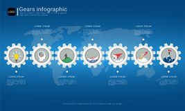 Gears infographic template for business presentation, Strategic plan to define company values. Gears infographic template for business presentation, Strategic Royalty Free Stock Photo