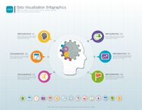 Gears infographic template for business presentation, Strategic plan to define company values. Royalty Free Stock Photo