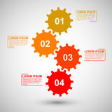 Gears infographic Royalty Free Stock Photo