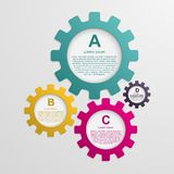 Gears infographic template. Design elements. Gears infographic design template. Vector illustration Royalty Free Stock Photo