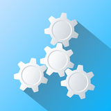 Gears Infographics. Flat design Royalty Free Stock Image
