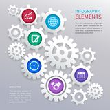 Gears infographics template Royalty Free Stock Image
