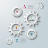 Gears infographics template vector illustration