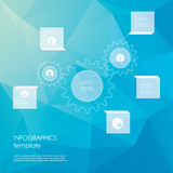 Gears infographics template. Low polygonal Stock Photography