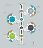 Gears Infographics-timeline. Royalty Free Stock Photo