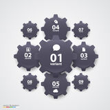 Gears infographics. Vector Stock Images