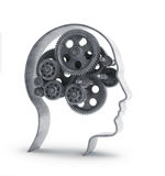 Gears inside a head Stock Images