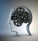 Gears inside a head Royalty Free Stock Photos