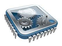 Gears inside processor Stock Photos