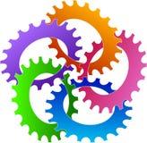 Gears interlock. A vector drawing represents gears interlock design Stock Images