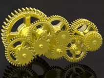 Gears isolated on black. Stock Image