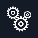 Gears Isolated on Black Background Royalty Free Stock Images