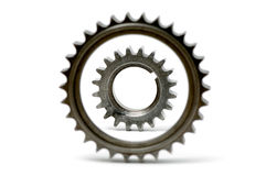 Gears isolated over white Stock Photo