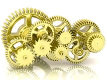 Gears isolated on white. Royalty Free Stock Photography