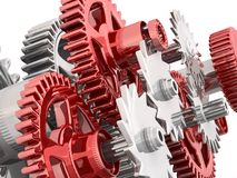 Gears isolated on white. Royalty Free Stock Images