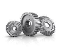 Gears. Isolated on a white Royalty Free Stock Photo