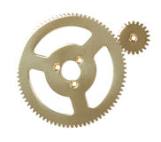 Gears. Isolated on white background Stock Image