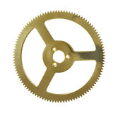 Gears. Isolated on white background Stock Photos