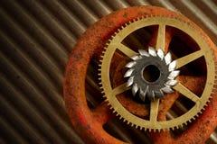 gears knoppen Royaltyfria Bilder