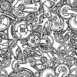 Gears lightbulb sketch vector illustration