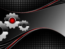 Gears with lines Royalty Free Stock Images