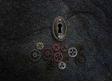 Gears and a lock Royalty Free Stock Photo