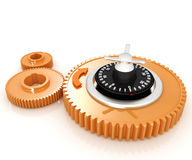 Gears with lock Royalty Free Stock Image