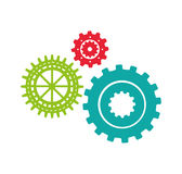 Gears machine isolated icon Royalty Free Stock Photo