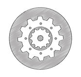 Gears machine isolated icon Royalty Free Stock Photos