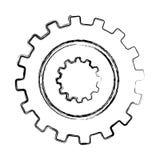 Gears machine isolated icon Stock Photos