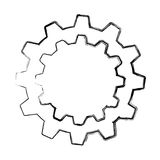 Gears machine isolated icon Royalty Free Stock Images