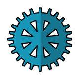 Gears machine isolated icon Royalty Free Stock Image